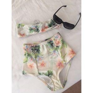 American Apparel High Waisted Floral Bikini